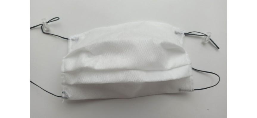 Защитная маска белая с регулируемым размером
