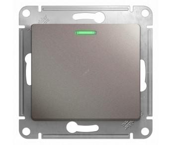 GLOSSA Выключатель 1кл. (сх.6) платина (упак. 15шт.)