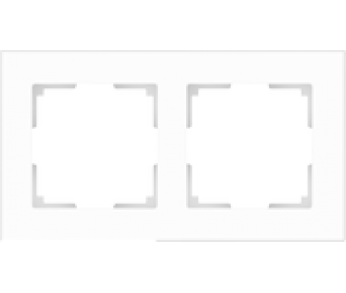 Werkel Рамка на 2 поста белый матовый Favorit