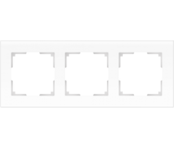 Werkel Рамка на 3 поста белый матовый Favorit