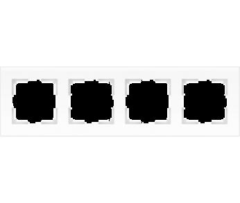 Werkel Рамка на 4 поста белый матовый Favorit