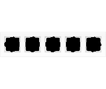 Werkel Рамка на 5 постов белый матовый Favorit