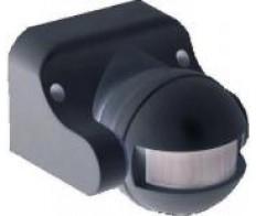 Датчик движения ИК настенный 1100w 180 гр. 12м IP44 черный (ДД 009 чер.) ИЭК