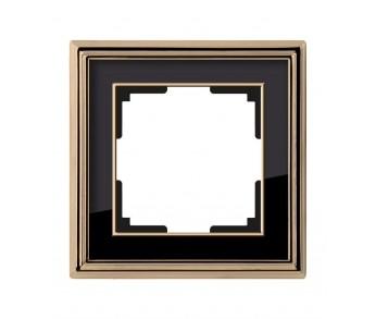 Werkel Рамка на 1 пост золото/чёрный Palacio