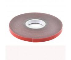 Скотч 2-х стор 6мм*5м, красный на серой основе REXANT