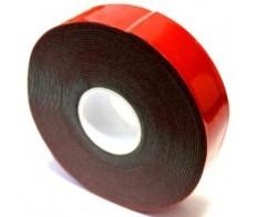 Скотч 2-х стор 20мм*5м, красный на серй основе REXANT