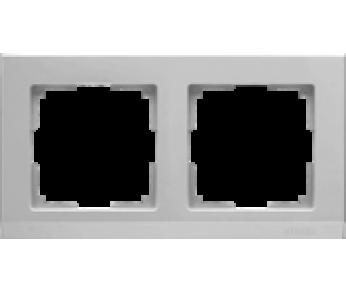 Werkel Рамка на 2 поста серебряный Stark (W0021806)
