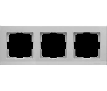 Werkel Рамка на 3 поста серебряный Stark (W0031806)