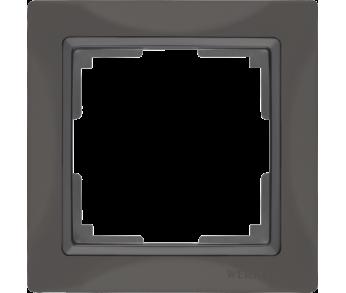 Werkel Рамка на 1 пост cеро–коричневый Snabb Basic