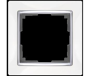 Werkel Рамка на 1 пост белый/серебро Snabb