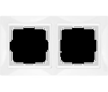 Werkel Рамка на 2 поста белый Snabb Basic