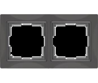 Werkel Рамка на 2 поста cеро–коричневый Snabb Basic
