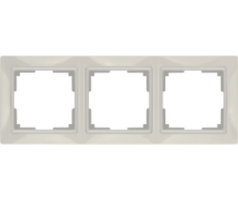 Werkel Рамка на 3 поста cлоновая кость Snabb Basic