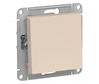 ATLASDESIGN Выключатель кнопочный 1кл. с самовозвратом (сх.1) 10AX бежевый (5шт/упак)