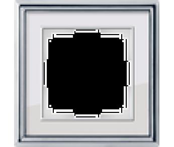 Werkel Рамка на 1 пост хром/белый Palacio