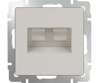 Werkel Розетка телефонная RJ-11 и Ethernet RJ-45 слоновая кость