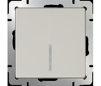 Werkel Выключатель 1-клавишный проходной с подсветкой слоновая кость