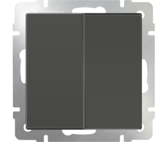 Werkel Выключатель 2-клавишный серо-коричневый