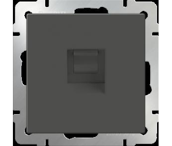 Werkel Розетка Ethernet RJ-45 серо-коричневая