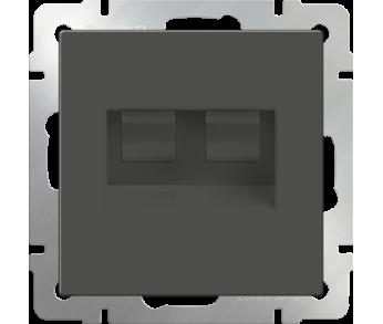 Werkel Розетка Ethernet RJ-45 2-ая серо-коричневая