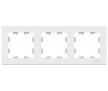 ATLASDESIGN Рамка 3-ая универсальная белый (упак. 15шт.)
