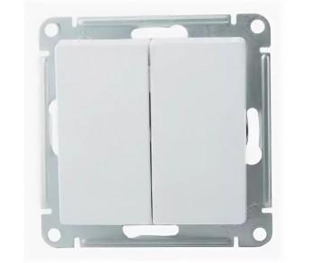ATLASDESIGN Выключатель 2кл. (сх.5) белый (10шт/упак)