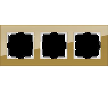 Werkel Рамка на 3 поста бронзовый Favorit