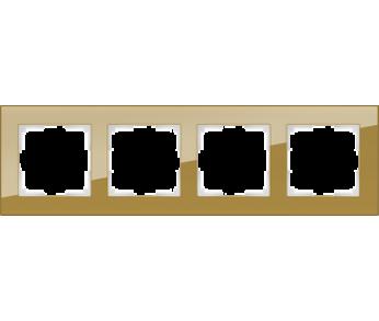 Werkel Рамка на 4 поста бронзовый Favorit