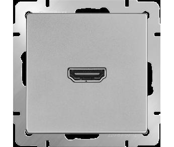 Werkel Розетка HDMI серебряная
