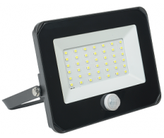 Прожектор светодиодный 30W СДО-06-6500К IP65  с ИК датчиком чёрн. ИЭК