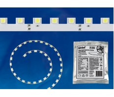 Лента светодиод. фигурная гибкая 14.4Вт/м  12V DC 5м IP20 холодный белый Uniel