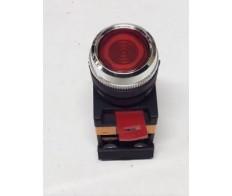 Кнопка красная ABLFS-22 плоская с подсветкой неон 1з+1р 240В IEK