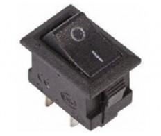 Выключатель клавишный 250V 3А (2с) ON-OFF черный Micro (RWB-101) REXANT