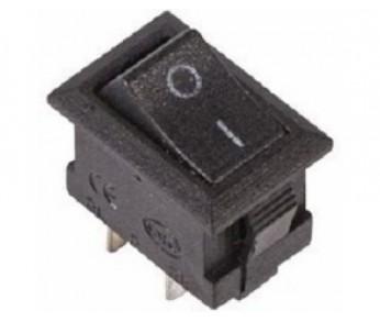 Выключатель клавишный 250V 3А (3c) ON-ON черный Micro (RWB-102) REXANT