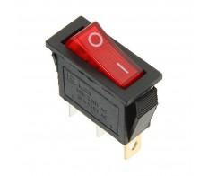 Выключатель клавишный 250V 15А (3с) ON-OFF красный с подсветкой (RWB-404, SC-791, IRS-101-1C) REXANT