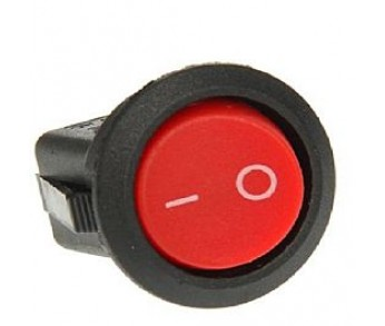 Выключатель клавишный круглый 250V 6А (2с) ON-OFF красный (RWB-213, SС-214, МRS-102-8) REXANT