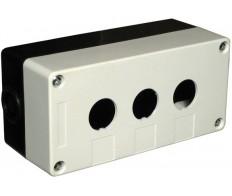 Корпус КП103 для кнопок 3 места белый IEK