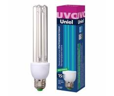 Лампа бактерицидная люм. 15w E-27 ультрафиолет. UNIEL