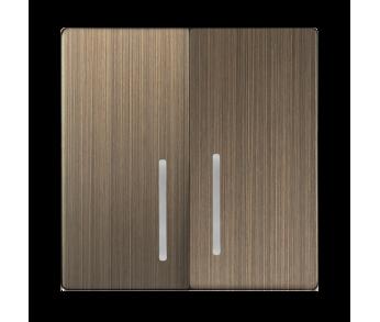 Werkel Набор клавиш для выключателя двухклавишного с подсветкой Бронза