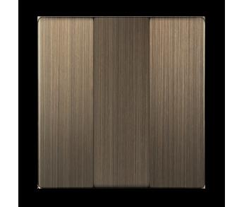 Werkel Набор клавиш для выключателя трехклавишного Бронза
