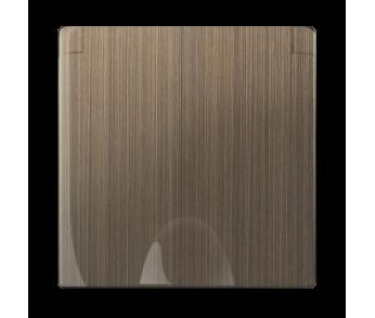 Werkel Накладка для розетки IP44 с крышкой Бронза