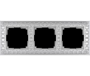 Werkel Рамка на 3 поста жемчужный Antik