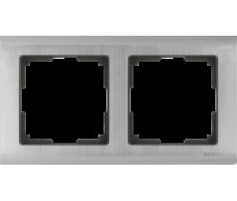 Werkel Рамка на 2 поста глянцевый никель Metallic