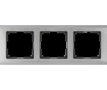 Werkel Рамка на 3 поста глянцевый никель Metallic