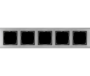 Werkel Рамка на 5 поста глянцевый никель Metallic