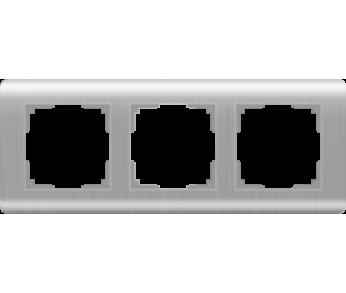Werkel Рамка на 3 поста серебряный Stream