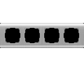 Werkel Рамка на 4 поста серебряный Stream