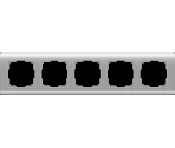 Werkel Рамка на 5 постов серебряный Stream