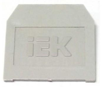 Заглушка для ЗНИ 16мм2 серый IEK