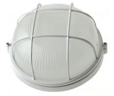 Светильник 1102 белый круг с рещеткой 1*100Вт IP54